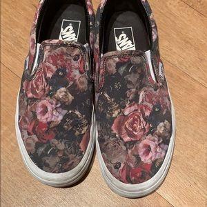 Floral Slip On Vans
